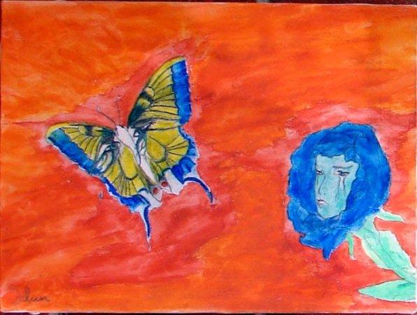 ma dernière toile faite c'est elle qui à été choisie pour la Bibliothèque de la commune maire pour les français  merci le vent